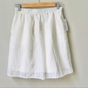 Maison Jules Skirt Women's Size S Ivory Checked